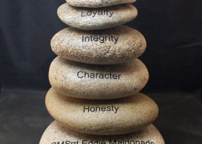 Custom rock Cairn Award